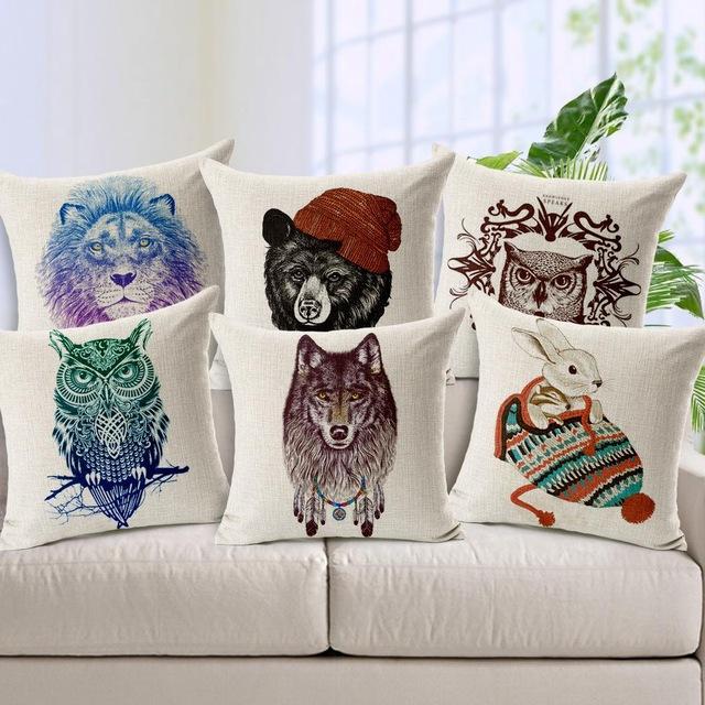 нейтральные декоративные подушки в комнату