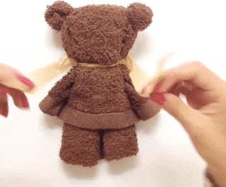 Медведь из полотенца своими руками