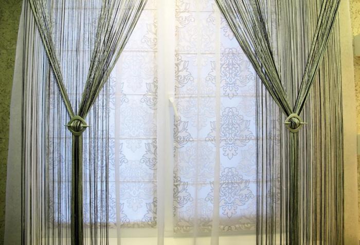 шторы-нити для интерьера