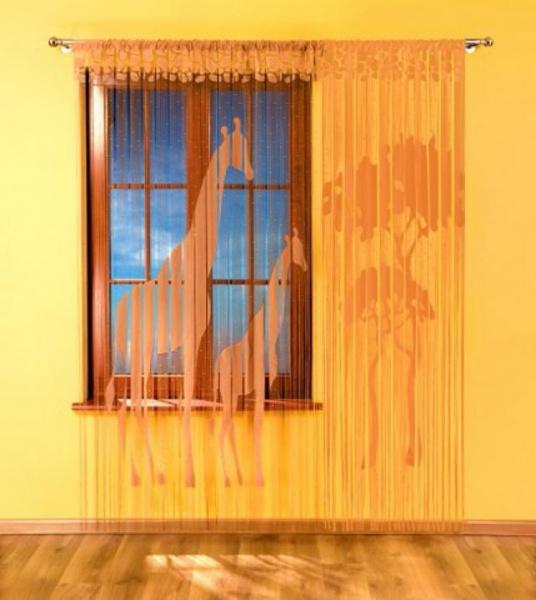 шторы-нити в детской