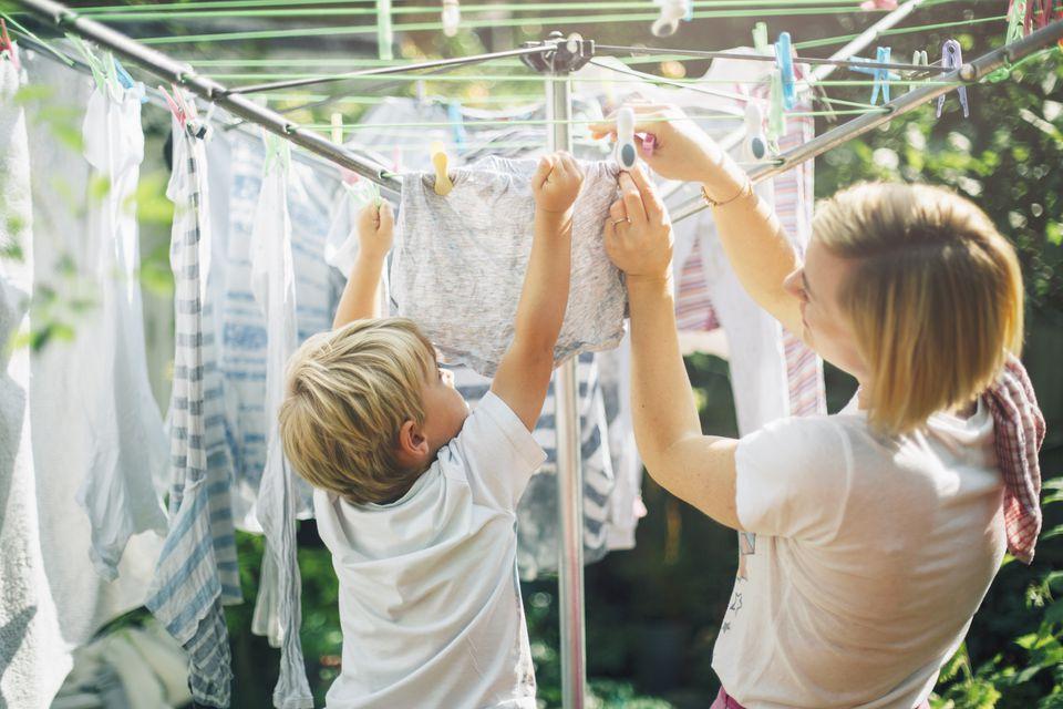 естественная сушка одежды