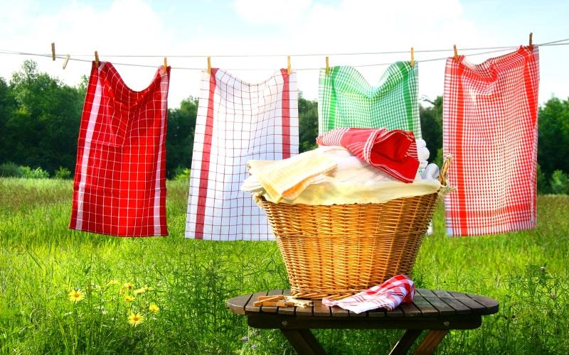 стирка полотенца для кухни