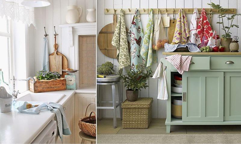 полотенца для кухни в интерьере