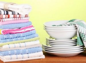 постирать кухонные полотенца