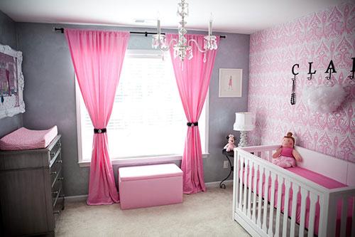 светлые шторы в детскую для девочки