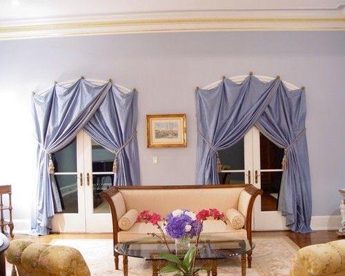 как повесить шторы без карниза