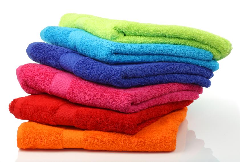 разные виды полотенец