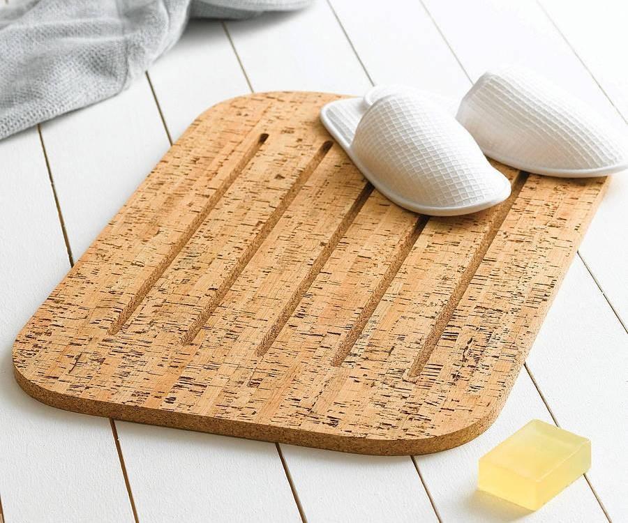 Пробковый коврик для ванной
