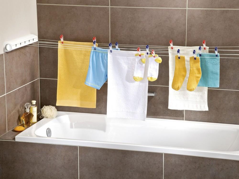где сушат одежду и полотенца