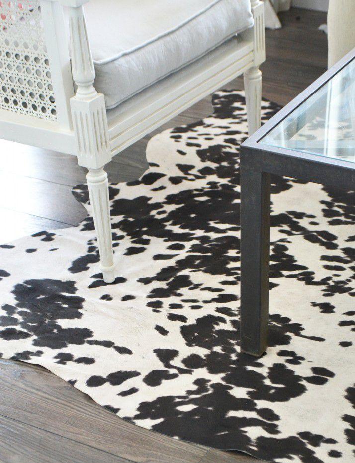 коровья расцветка на ковре