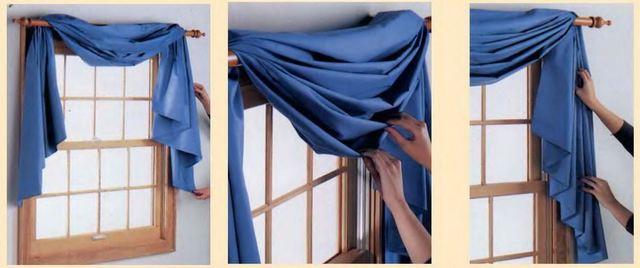 драпировка штор лентами