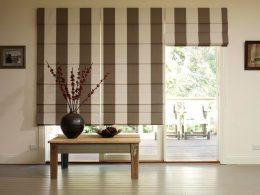 римские шторы в оформлении