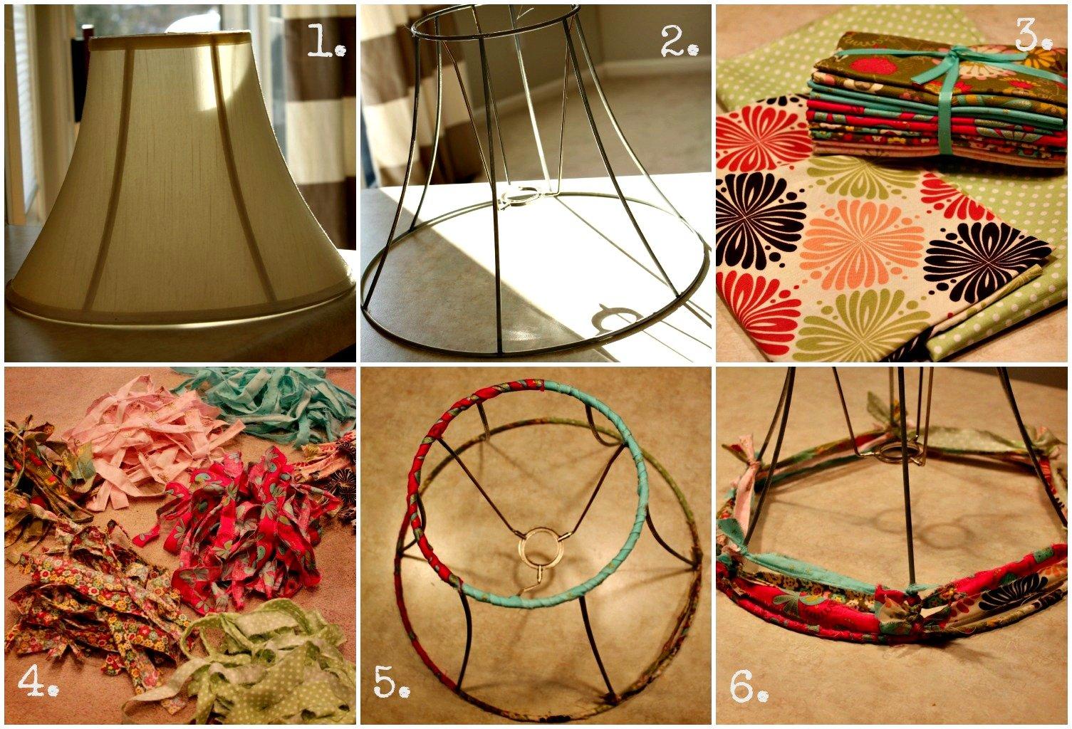 Как сделать абажур из ткани своими руками: пошаговая инструкция