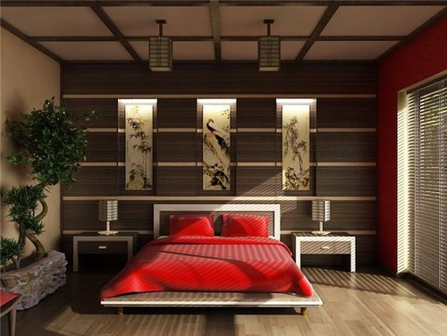 спальня в стиле феншуй огонь
