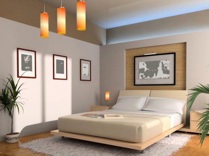 комната в спокойных тонах в стиле феншуй