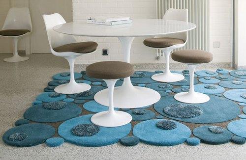 Скульптурные ковры в интерьере: особенности изготовления и обслуживания