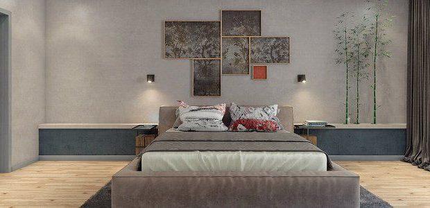 спальня в стиле феншуй металл