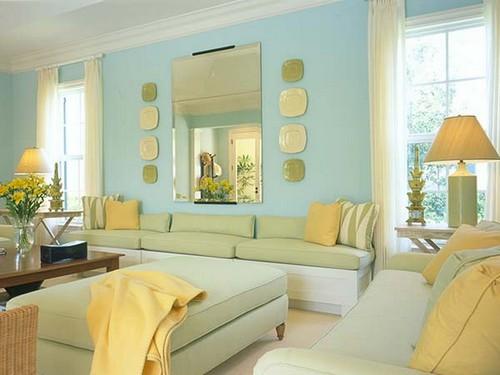 Бирюзовый цвет в домашнем текстиле