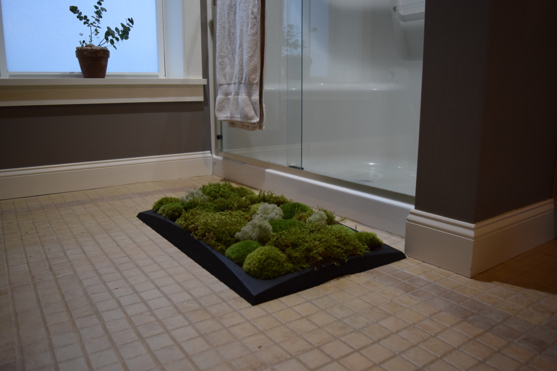 «Живой» коврик для вашей ванной комнаты