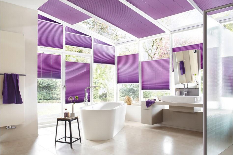 Плиссированные шторы в разной стилистике