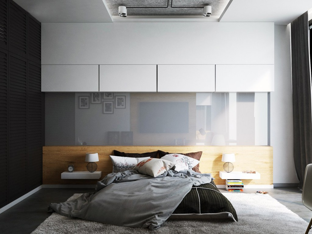 Кровать на полу в азиатском стиле