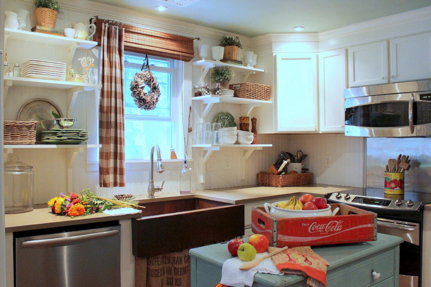 Идеи для кухонных штор: виды, материалы, советы по выбору