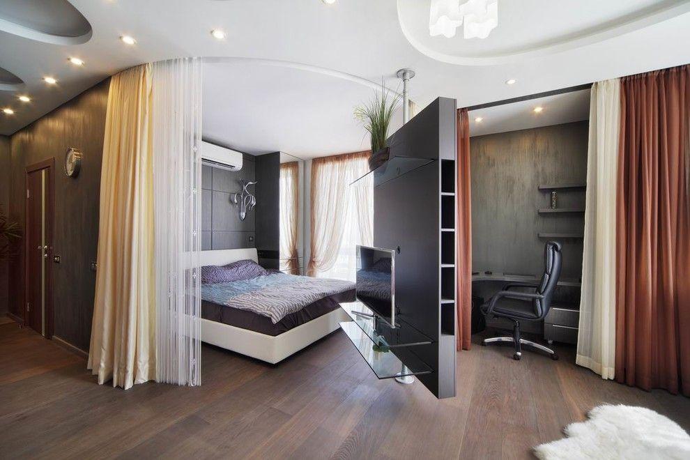 Как разделить пространство в комнате при помощи штор?