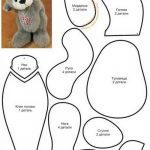 Лучшие  выкройки и пошаговые инструкции пошива игрушки мишки Тедди